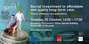 SPRINT Conference: Social investment in affordable and quality long-term care. Theory, challenges and applications